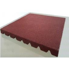 Плитка резиновая 500x500 (толщина 36 мм) с рельефным основанием